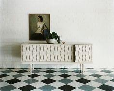 statement floors in minimal interior spaces