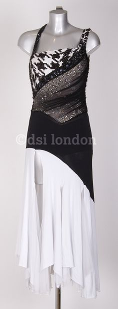 Susanna Reid black white ballroom dress
