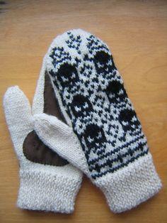 2-needle mitten pattern (pattern on p2; no skulls)