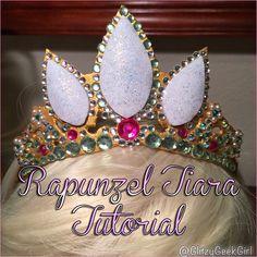 GLITZY GEEK GIRL: Tutorial: Rapunzel Tiara