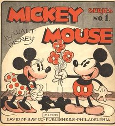 Mickey Mouse Series (David McKay Co, Shortly after the success of animated cartoons in film and television, Walt Disney began producing comics with his characters. Since the countless pages of Disney comics hav Disney Vintage, Vintage Mickey Mouse, Mickey Mouse And Friends, Vintage Cartoon, Disney Mickey Mouse, Minnie Mouse, Classic Mickey Mouse, Vintage Disneyland, Old Cartoons