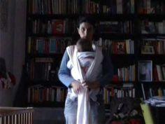 come indossare la fascia portabebè - YouTube