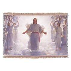 Shop Jesus & his Angels Throw Blanket created by Ronspassionfordesign. Love Your Home, Design Your Home, Are You The One, That Look, Photo Memories, Magazine Design, On Your Wedding Day, Decorating Tips, Fun Activities