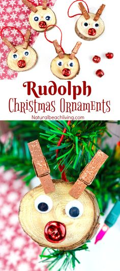 Easy to Make Rudolph Christmas Ornaments Kids Will Love Christmas ornaments kids can make perfect holiday ornaments Handmade Christmas Ornaments Unique DIY Christmas Ornaments Great Christmas Craft Easy Christmas Ornaments, Rudolph Christmas, Preschool Christmas, Christmas Crafts For Kids, Diy Christmas Gifts, Handmade Christmas, Christmas Fun, Holiday Crafts, Ornaments Ideas
