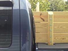 Pickup Truck Sideboards/Stake Sides - Ford Super Duty : 4 Steps (with Pictures) - Instructables Lumber Rack, Wood Rack, Ford Trucks, Pickup Trucks, Truck Mods, Ford Super Duty, Landscaping Company, Truck Accessories, Pick Up