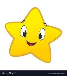 Cartoon Little Star vector image on VectorStock Alphabet Flash Cards Printable, Printable Cards, 2nd Birthday Party For Boys, Online English Teacher, Funny Emoji, Twinkle Twinkle Little Star, Preschool Worksheets, Baby Shark, Smiley
