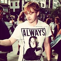 And made it clear he was 100% on Team Snape. | 27 Times Rupert Grint Was The Best Member Of The Harry Potter Cast