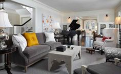 15 Grand Piano Set-ups in Traditional Living Rooms
