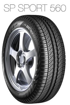 A modern tyre with open tread design, providing superior levels of safety, comfort, direct steering response and water displacement.