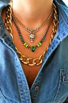 How to: Layered Necklaces #fashion #style  www.glamorousobsessions.com