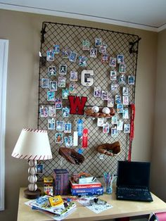 Itsy Bits And Pieces is all about home decor and DIY using new and vintage finds. You'll find home tours, seasonal decor, projects, and makeovers! Boys Bedroom Decor, Baby Room Decor, Boy Bedrooms, Baseball Card Displays, Boy Room, Kids Room, Room Themes, My New Room, Decoration