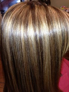 Brown hair with highlights!! Love this thanks Jessicca.