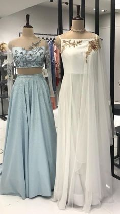 Beautiful Silk Dresses with Hand Embroidery embellishments. Pakistani Dresses Casual, Indian Gowns Dresses, Indian Fashion Dresses, Indian Designer Outfits, Indian Wedding Outfits, Indian Outfits, Wedding Dress, Western Dresses For Women, Classy Gowns