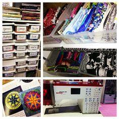 @Jenni Berg keeps her fabric stash very well organized!