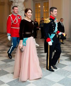 Crown Prince Frederik and Crown Princess Mary of Denmark - 2015. Mary can wear anything and look great!