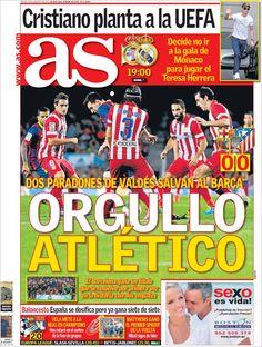 Los Titulares y Portadas de Noticias Destacadas Españolas del 29 de Agosto de 2013 del Diario Deportivo AS ¿Que le pareció esta Portada de este Diario Español?