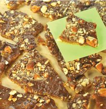Almond Butter Toffee  Not just to nibble on! Use it as a topping on ice cream, pudding or cheesecake.
