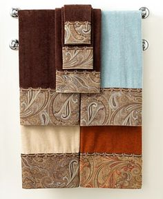 Bathroom towels in copper
