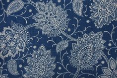 Robert Allen Chequit Printed Linen Blend Drapery Fabric in Navy $16.95 per yard