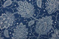 Robert Allen Chequit Printed Linen Blend Drapery Fabric in Navy $16.95 per yard