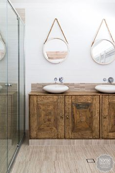Luv this bathroom from house rules! Downstairs Bathroom, Laundry In Bathroom, Bathroom Renos, Bathroom Ideas, Bathroom Interior Design, Decor Interior Design, Coastal Interior, Interior Decorating, Hamptons Style Homes