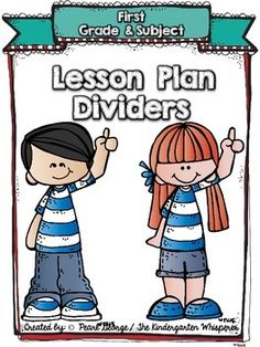 Have you been looking for the perfect set of dividers to compliment your lesson plan book! Well, you are lucky that you have found my store because here they are! You will find 74 lesson plan dividers with different clip art on each one to add to your lesson plan binder.If you do not see a divider that you need please let me know and I will be happy to add them for you at no additional cost.Lesson Plan Dividers include:My First Grade Lesson Plans ( 3 different versions - grade, male…