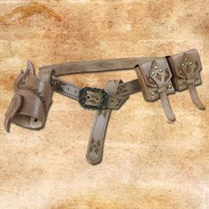 Duo Weapon Girdle with 2 pouches and holder (LARP)