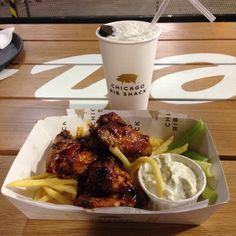 #chicagoribshack on Instagram candicebreezy #Leeds #TrinityKitchen #ChicagoRibShack #BBQ #ChickenWings #Fries #OreoShake