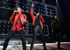 Brian Littrell Photos Photos - Brian Littrell,  Howie Dorough and Kevin Richardson of Backstreet Boys perform onstage during 103.5 KTU's KTUphoria 2017 presented by AT&T at Northwell Health at Jones Beach Theater on June 3, 2017 in Wantagh, New York. - 103.5 KTU's KTUphoria 2017 - Show