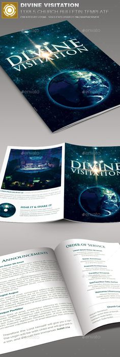 Grace Church Bulletin Template  Churches Template And Font Logo