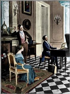 Felix Mendelssohn playing for the royal couple.
