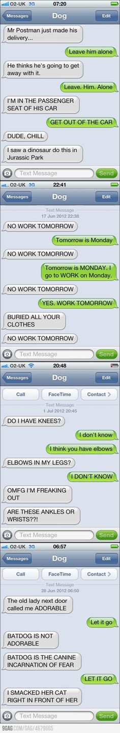 What my dog would probably say if he could text @jessica Hinman
