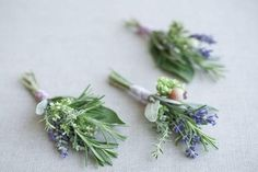 Herbal Boutonnieres! Smell good and look fabulous. ;)