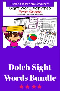 This BUNDLE of sight word activities is a great way to support beginning or struggling readers. These sight word practice pages allow students to focus on the Dolch Sight Words. These pages can be used for guided reading warm-ups, small group work, homework and more! This must have tool is perfect for helping students learn to read, spell and write more effectively.