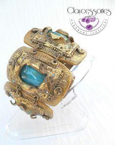 Ethnic bracelet-Polymer clay bracelet-Bohemian by claycessories