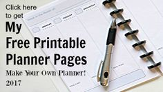 Make your own planner with these free printable planner pages for 2017. Pages are half size and work great in the Arc notebook system