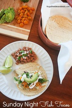 Sunday Night Fish Tacos and 6 More Dinner Ideas
