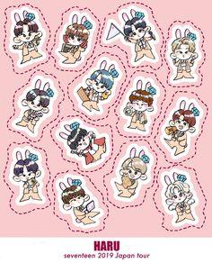 Korean Stickers, Anime Stickers, Cute Stickers, Seventeen Memes, Seventeen Album, Printable Stickers, Printable Planner, Tumblr Art, Seventeen Wallpapers