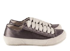 Parson, 'phat' lace satin sneaker in grey satin I Pedro Garcia shoes I Fall Winter 2015 2016 I Made in Spain