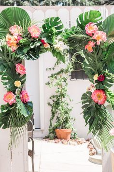 Tropic archway from a Tropical Birthday Party on Kara's Party Ideas | KarasPartyIdeas.com (24)