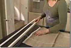 Com a cortina esticada ajuste as medidas dos cordões