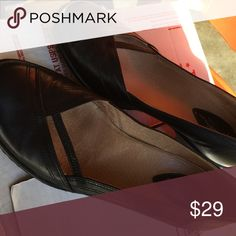 Clark's Artisan shoes Very gently used Artisan by Clark's, low wedges, extremely comfortable Clarks Shoes Flats & Loafers