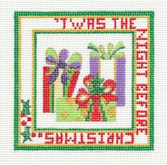 """Strictly Christmas """"Twas The Night Before x mas"""" Handpainted Needlepoint Canvas 