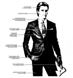Patrick Bateman-American Psycho. Yes, he murdered people, but he sure looked good doing it