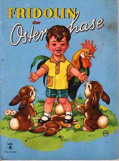 Fridolin der Osterhase - Bilderbuch 50iger