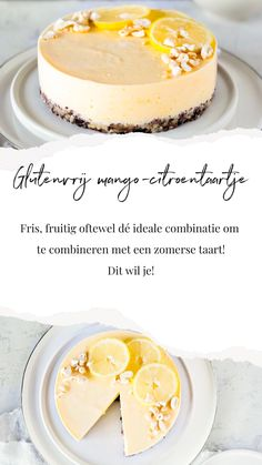 Gluten-free mango lemon tart for every day! - Oh My Pie! - A gluten-free cake with mango and lemon. The ideal combination for summer! Gluten Free Cakes, Gluten Free Desserts, Desserts For A Crowd, Easy Desserts, Sin Gluten, Sweet Recipes, Cake Recipes, Good Food, Yummy Food