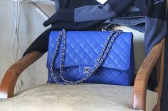 I promise to be good, Santa! (indigo quilted chanel)