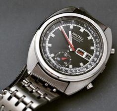 Seiko automatic chronograph from June Rolex Watches, Watches For Men, Seiko Automatic, Vintage Watches, Chronograph, Omega Watch, June, Pocket Watches, Fashion Design