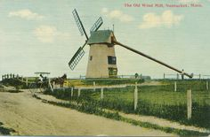 Nantucket The Old Mill DB VG 1911 Uncommon Directional View Horse Carriage | eBay