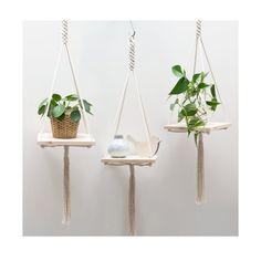 Macrame Plant Hanger / Macrame shelf hanging / by TeddyandWool